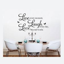 Home Decor Sayings by Live Love Laugh Letters Transprent Waterproof Vinyl Wall Quotes