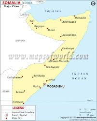 Map Of India Cities Somalia Cities Map Major Cities In Somalia