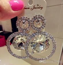 big stud earrings 2017 fashion stud statement earrings silver cup chain stud