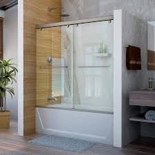 glass bath doors frameless shop dreamline charisma 60 in w x 58 in h frameless bathtub door