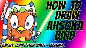 draw ahsoka tano bird angry birds star wars custom