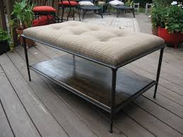 Diy Tufted Ottoman Furniture Inspiring Diy Tufted Ottoman Coffee Table With Wood