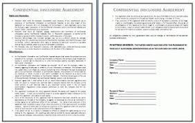 precedent confidentiality contract template free business templates