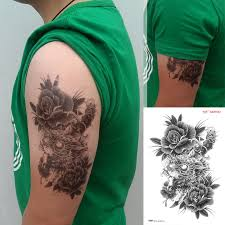 large temporary tattoo stickers waterproof high quality men