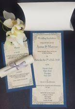 wedding scroll invitations scroll wedding invitations ebay