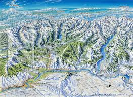 Mt Washington Map by Wenatchee Washington In Winter James Niehues Map Artist Ski