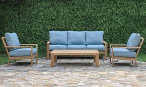 Teak Outdoor Furniture Atlanta by Bermuda 4 Piece Teak Outdoor Living Room The Dump America U0027s