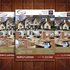 Real Estate Brochure Template by 8 5x11 Newly Listed Real Estate Brochure Template Property