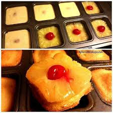 wanna bite mini pineapple upside down cakes