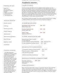 academic resume samples academic cv template curriculum vitae