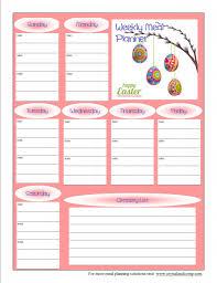 printable meal planner free free printable meal planner april 2014 free printable meal