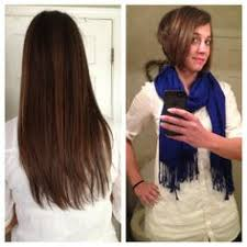 graduated bob before and after donated to locks of love u003c3