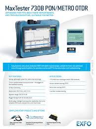 exfo spec sheet maxtester 730b v3 en optical fiber fiber to the x