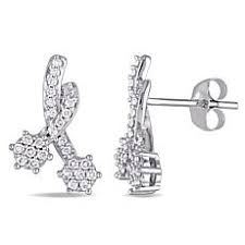 studded earrings diamond earrings hsn