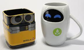 Coolest Mugs Amazon Com Disney Pixar Wall E U0026 Eve Mug Gift Set Disney S Eve