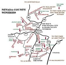 nevada counties map wines nevada county map page
