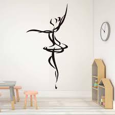 online get cheap cheapest wall murals aliexpress com alibaba group cheapest ballet dancer outline wall sticker simple design art vinyl wall murals adhesive removable home decor
