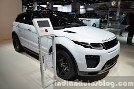 land rover india 2016 range rover evoque front quarter at the 2015 iaa indian