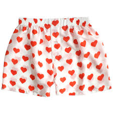 silk heart boxers by royal silk valentine u0027s day red on white