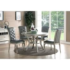 steve silver dining table set delano room sets fabric chairs metal