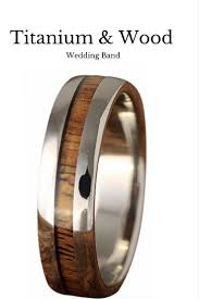 mens wedding bands that don t scratch titanium koa wood ring 6mm woods weddings and ring