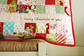 christmas patchwork pillow nanacompany