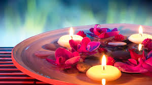 themed candles spa themed candles flowers stones water wallpaper other