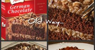 granny mountain upside down german chocolate cake
