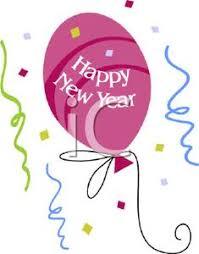 happy new year balloon happy new year balloon and confetti royalty free clipart picture