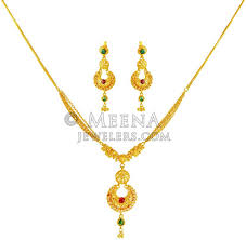 small gold necklace sets images 22k gold designer necklace set stls19677 22k gold designer jpg