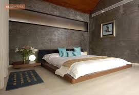 Texture Paint Designs For Bedroom Pictures - bedroom with textured paint wall and wooden false ceiling design