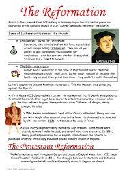 english reformation worksheets ks3 u0026 ks4 lesson resources year