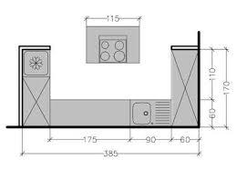 plan cuisine ilot plans cuisines plan cuisine avec ilot central elevation