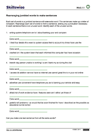 bunch ideas of sentence structure worksheets pdf with additional