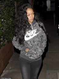 no part weave hairstyles rihanna debuts cascading new curly hair weave makeup free daily