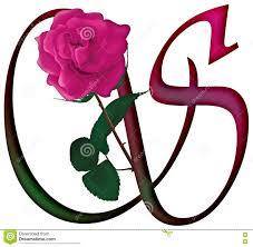 letter s floral font stock photo image 78539301