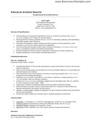 Architect Resume Samples Enterprise Architect Cover Letter