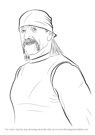 learn how to draw hulk hogan wrestlers step by step drawing