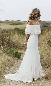 wedding dress designer designer bateau boho wedding dress
