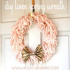 How To Make A Spring Wreath by Diy Spring Wreath In Pink And Gold