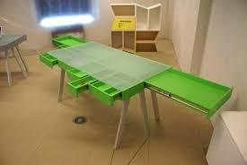 Futuristic Computer Desk Treasury Table Green Color Futuristic Computer Desk Multi Side