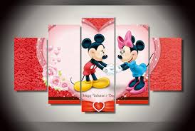 minnie mouse s day framed printed mickey and minnie mouse painting on canvas room