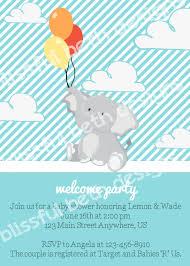 elephant baby shower elephant baby boy shower invitation