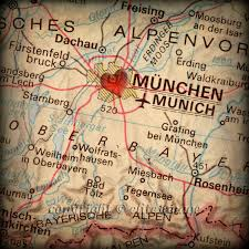 Munich Map 8x8 Map Of Munich Germany With A Heart Shape With A Grunge