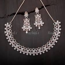 zircon necklace images Buy cz zircon american diamond necklace sets for women online jpg