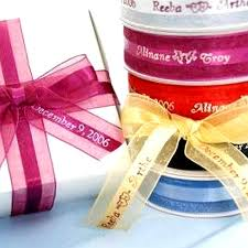 personalized ribbon for favors personalized organza ribbons favor boxes 50 counts efavormart