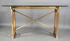 Tall Writing Desk by Antique Tall Neoclassical Style Bronze Glass Top Bank Writing