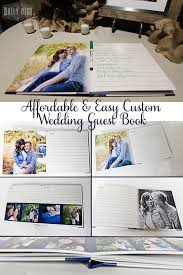 guestbook wedding affordable and easy custom wedding guest book diy the daily digi
