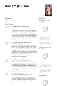 Corporate Communication Resume Sample by Event Planning Resume Samples Visualcv Resume Samples Database