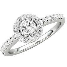 inel diamant inel de logodna cu diamante dama aur alb 18kt cu diamante rotunde